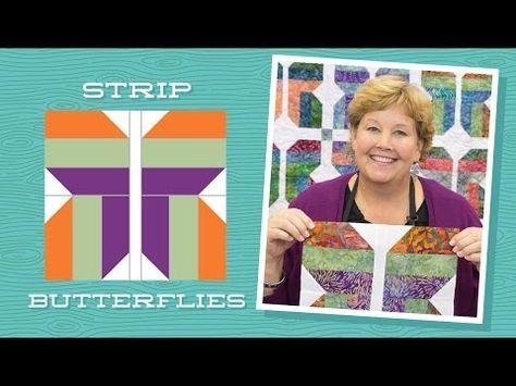 MSQC Tutorial Strip Butterflies Missouri star quilt