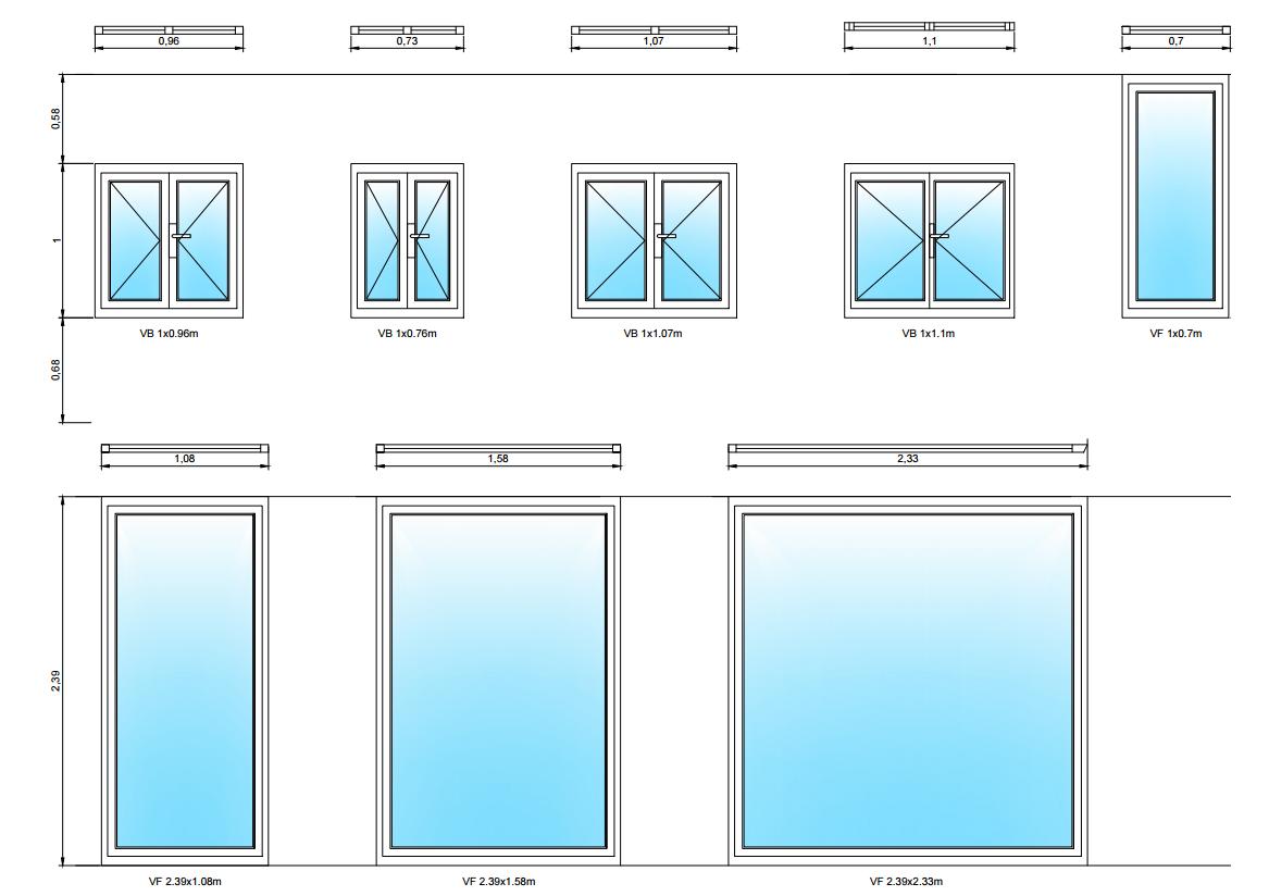 Plano de carpinter a de ventanas utilizadas para dise o de for Planos de carpinteria