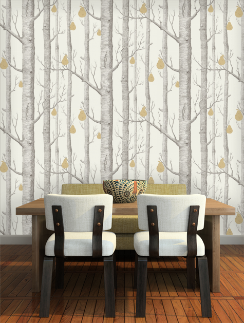 Woods And Pears At Home Cole Son Wallpaper Dining Room