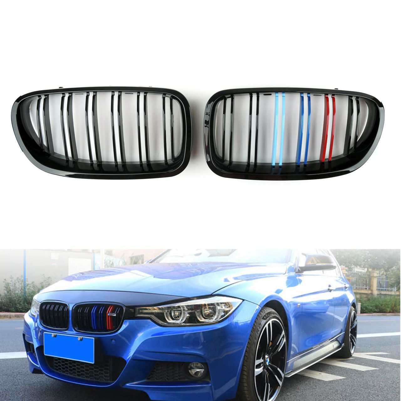 Mad Hornets Kidney Grille M Color Double Rib Bmw F10 F18 5