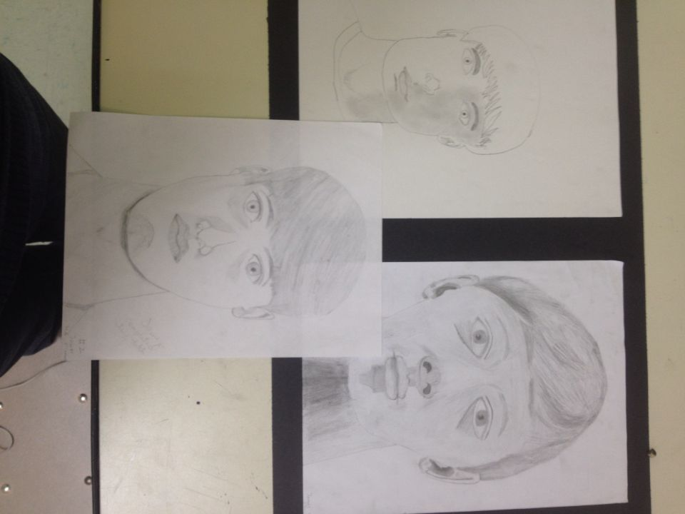 3 face drawings 6/5/15 James O. 4A