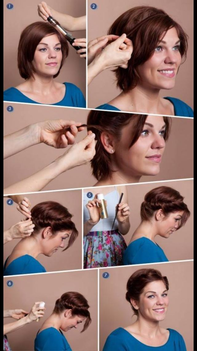 Kort hr frisure hair pinterest make up diy short hair faux updo hairstyle do it yourself fashion tips diy fashion projects for when i cut my hair solutioingenieria Choice Image