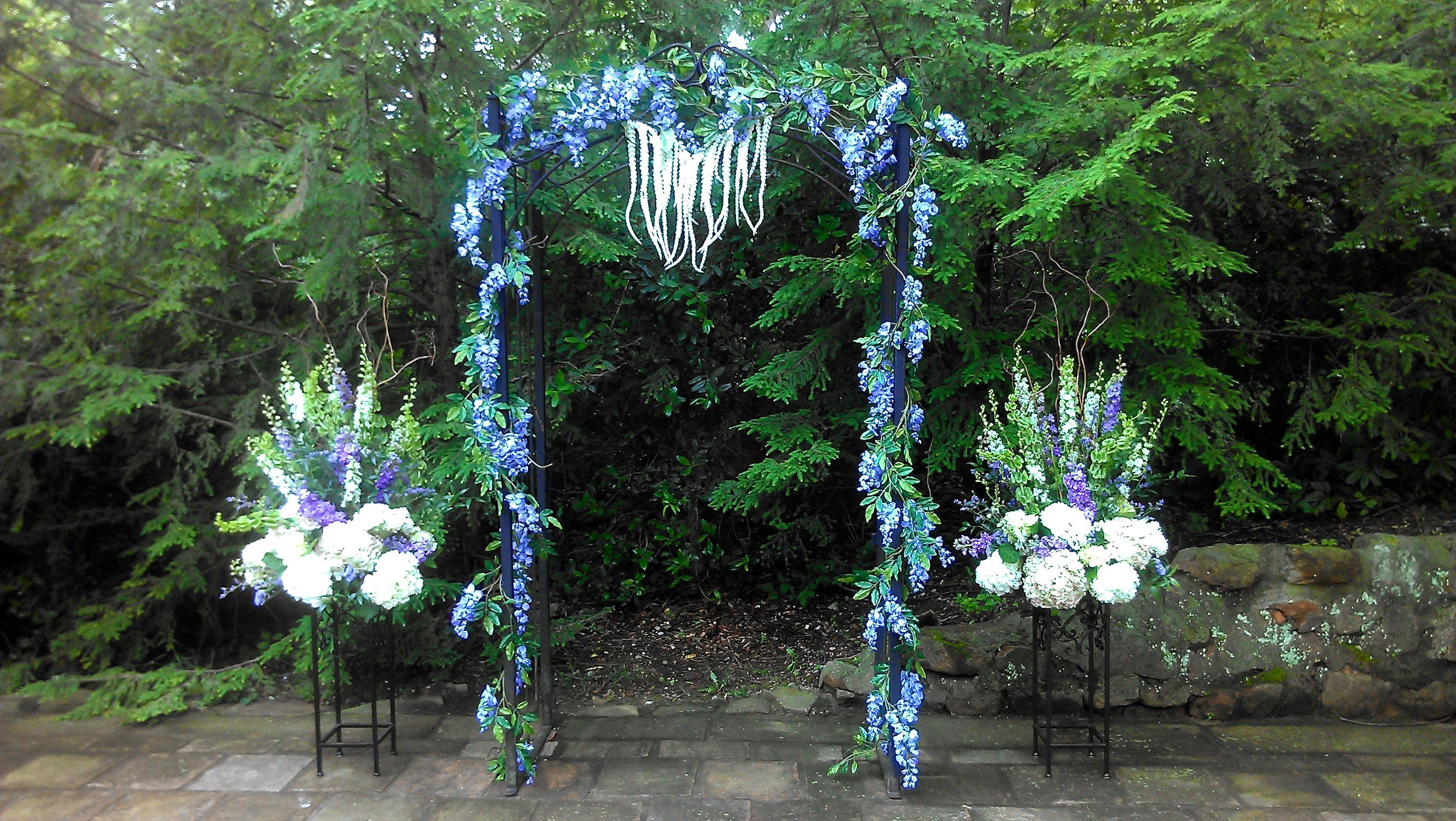 Wedding Ceremony Ideas Flower Covered Wedding Arch: Silk Wisteria Covered Arch With Fresh Floral Large