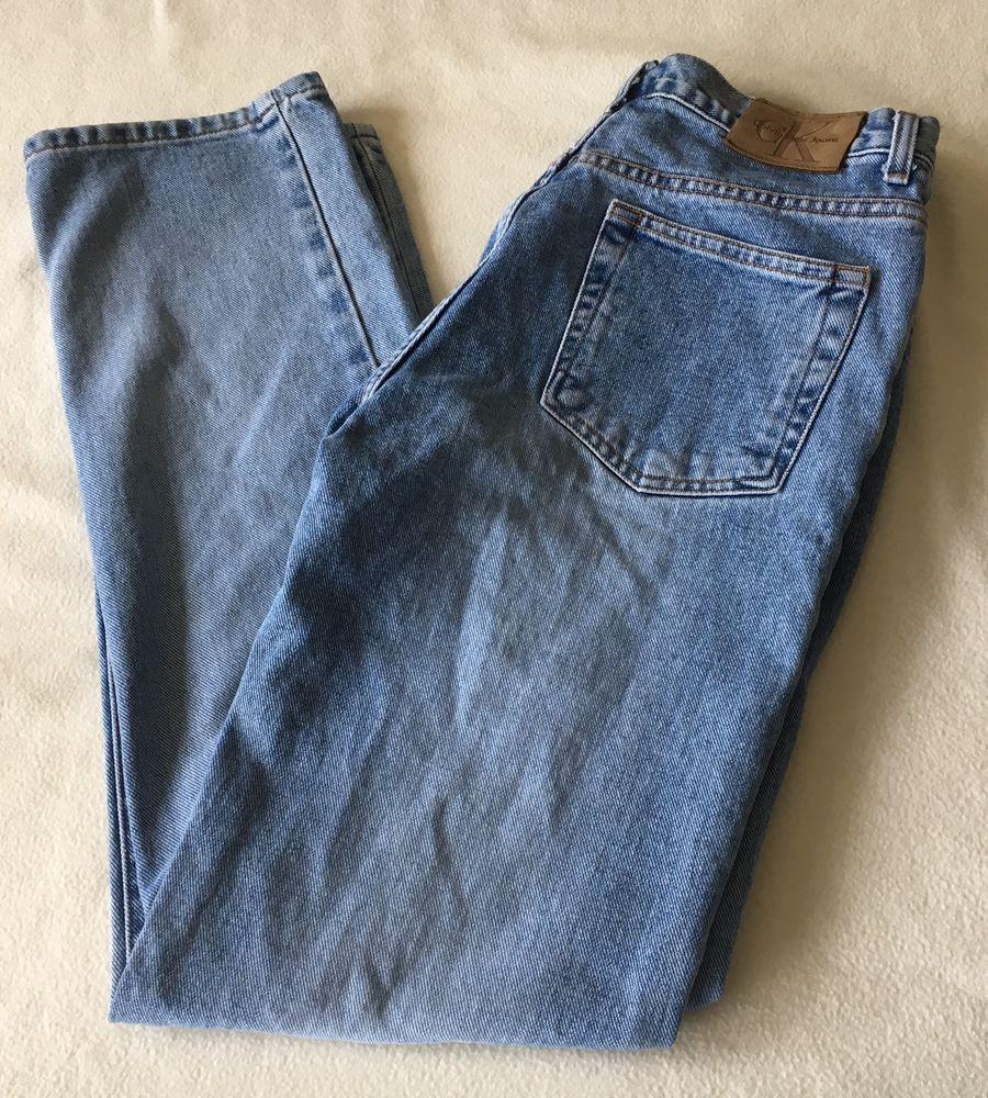 Calvin Klein Women's Button Fly Low Rider Denim Jeans Size 9 #CalvinKlein #StraightLeg