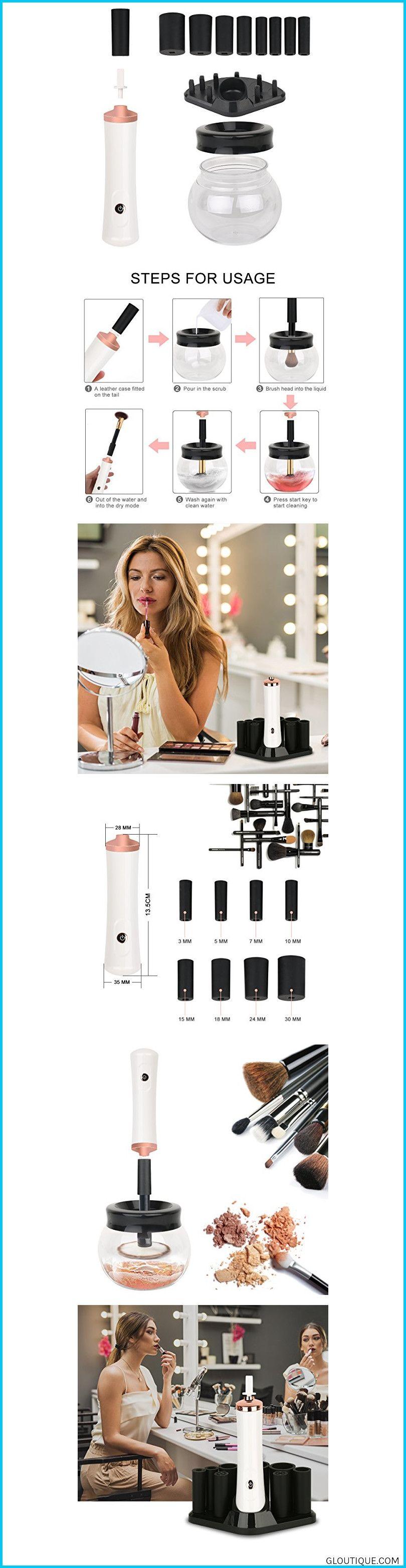 Makeup Brush Cleaner, INKERSCOOP Electric Makeup Brush
