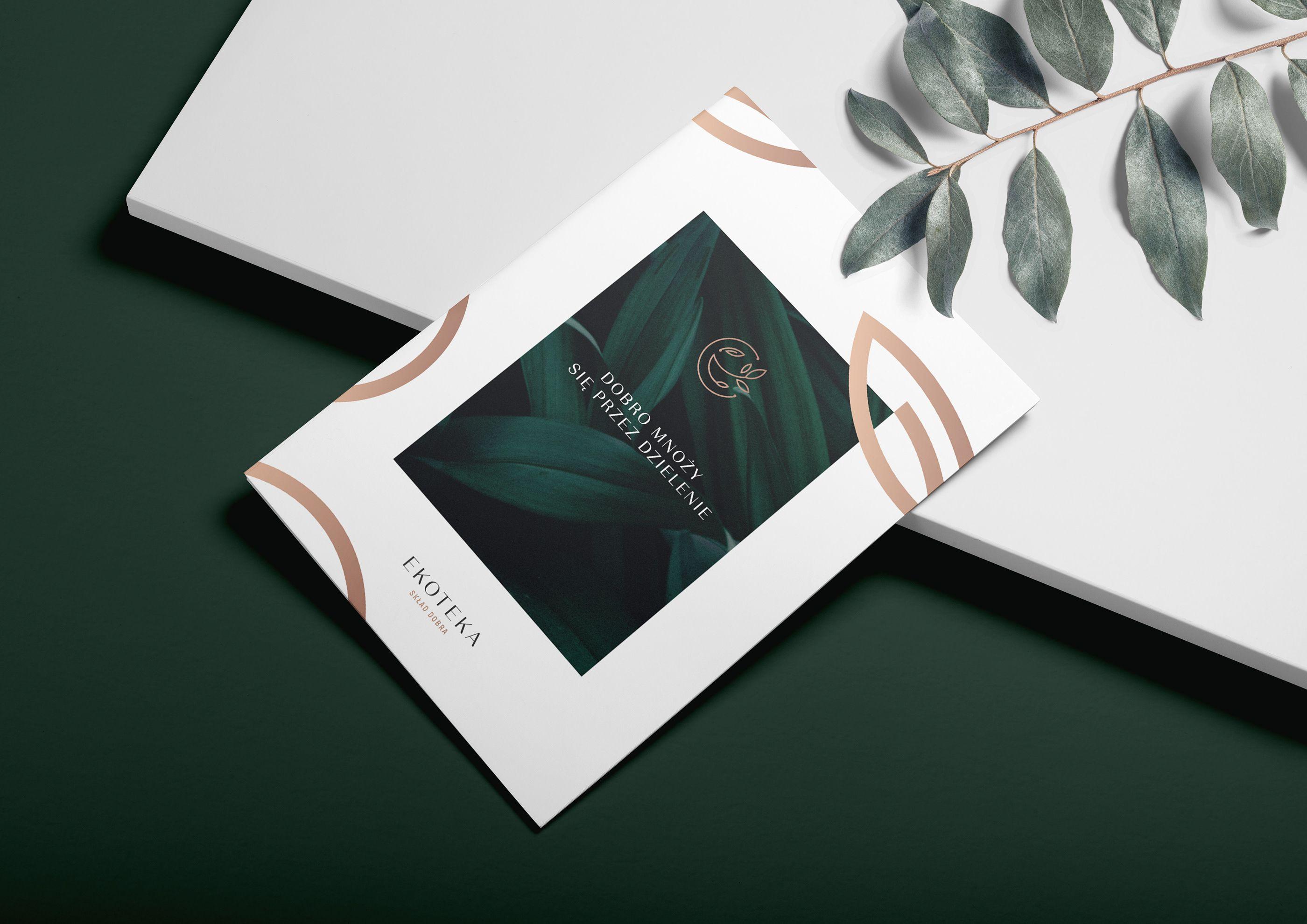 Ekoteka Organic Products Dealer On Behance Elegant Brochures
