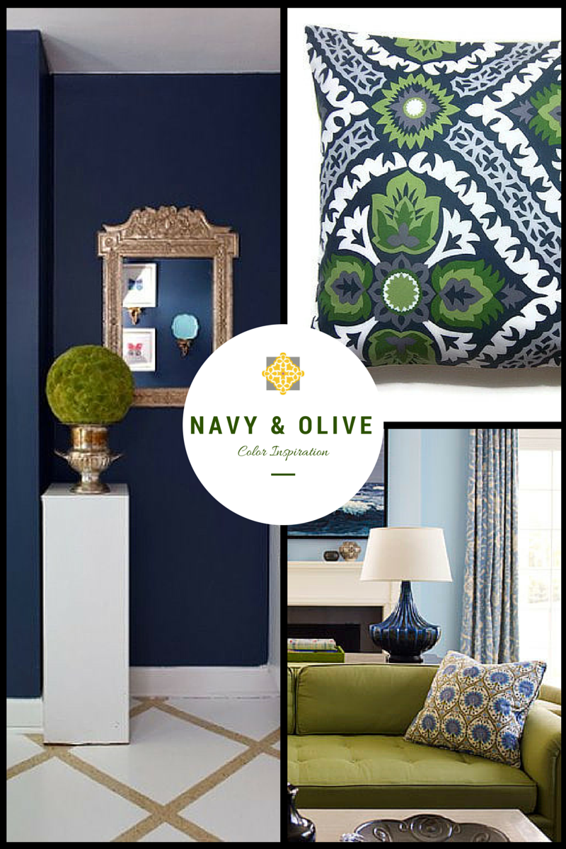 Color Inspiration Navy And Olive Green Living Room Decor