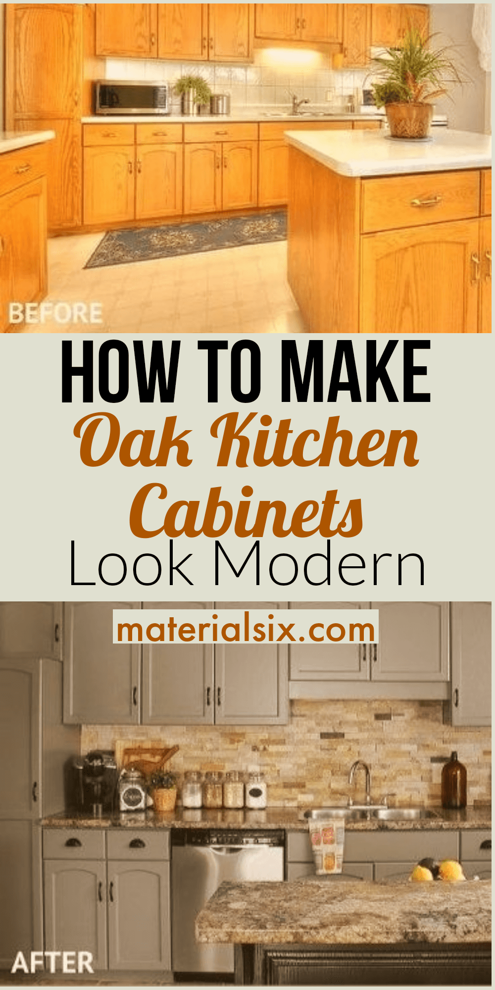 How To Make Oak Kitchen Cabinets Look Modern Materialsix Com In 2020 Kitchen Cabinets Oak Kitchen Oak Kitchen Remodel