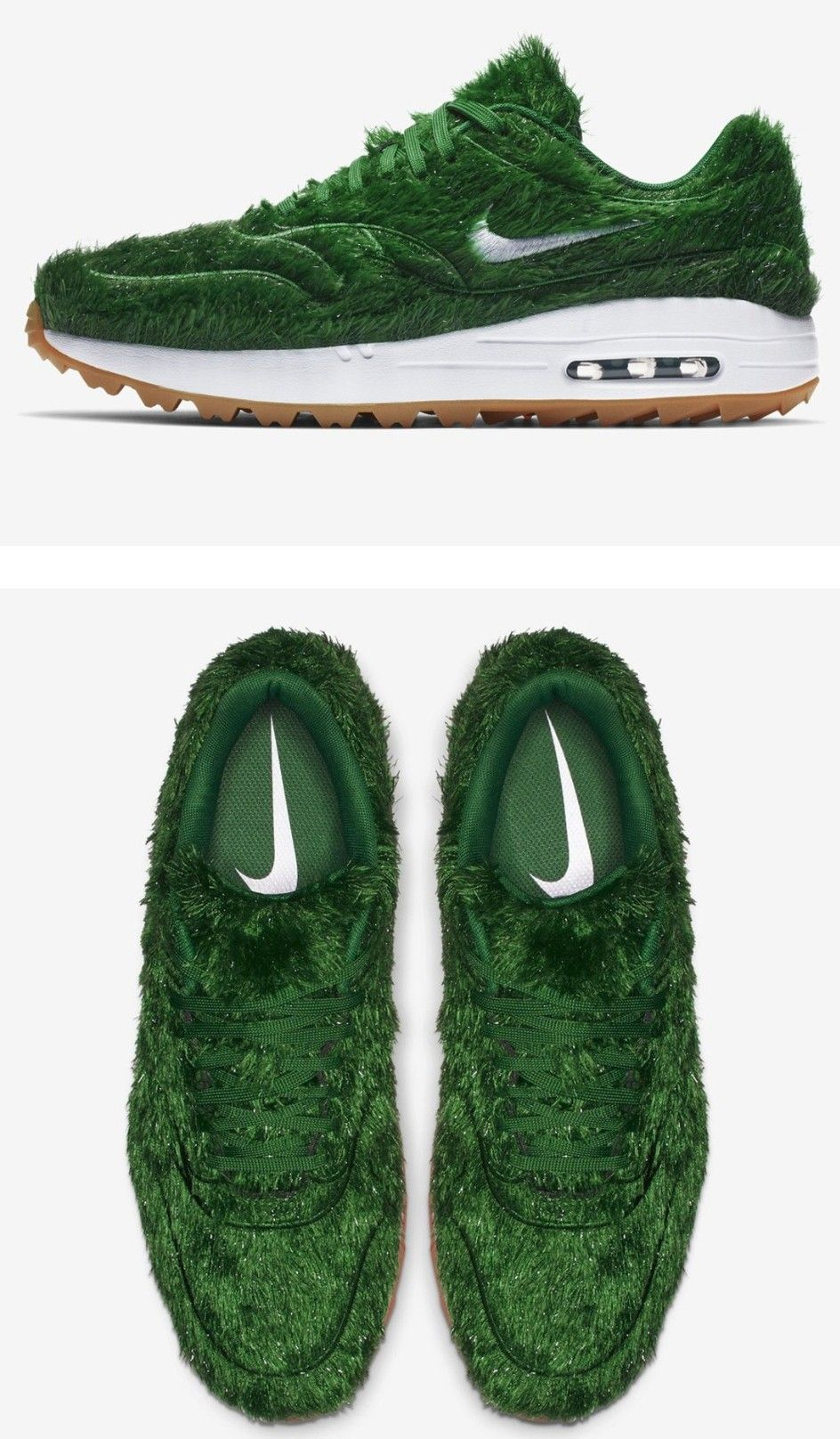 new product 579be 2cba0 Nike Unveils The Air Max 1 Golf Shoe With Green Grass Uppers ⛳