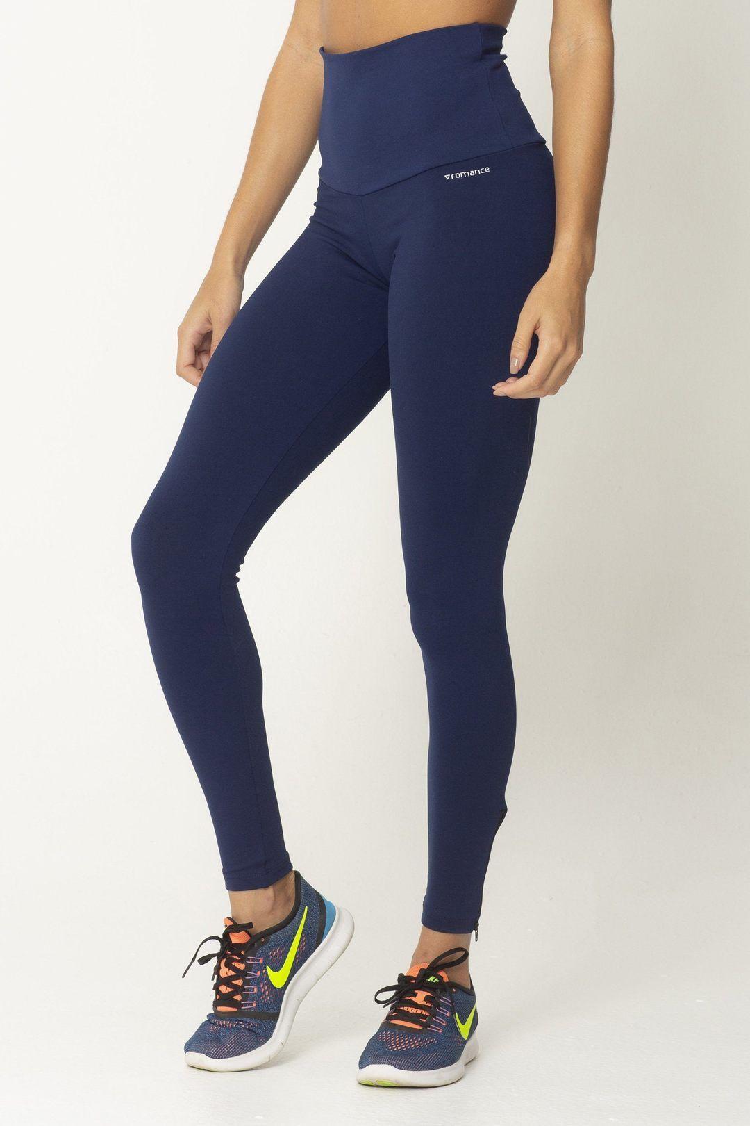 Navy Zip Up Detox High Up Legging Tops for leggings