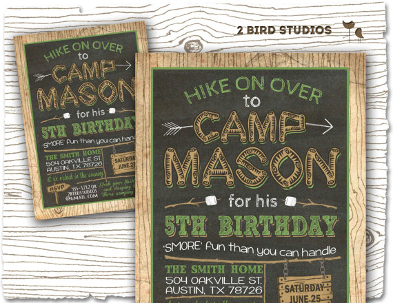 camping invitation camping party invitation camping birthday party