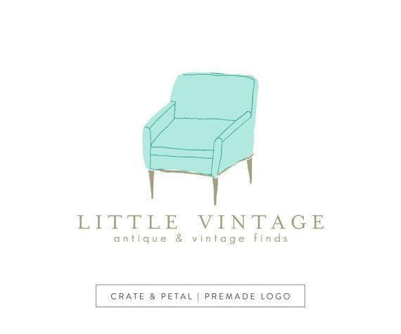 vintage furniture logo. Premade Vintage Chair Logo Design - Antique Store Shop Boutique \u0026 Furniture