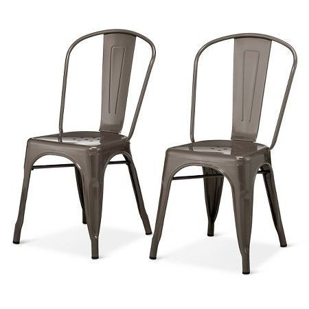 Carlisle High Back Metal Dining Chair   Set Of 2 : Target