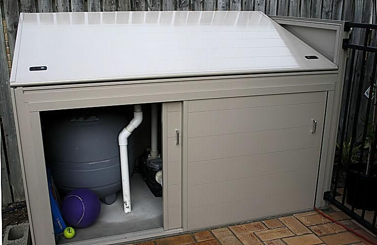 Pool Pump Sheds For Shade Cover Ideas