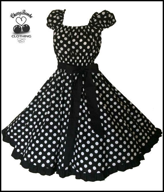 Polka dot ruffled swing dress plus size 3xl - 4xl USA 24 26 28 UK ...