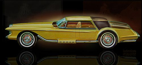 1966 Duesenberg Sedan- rough sketch