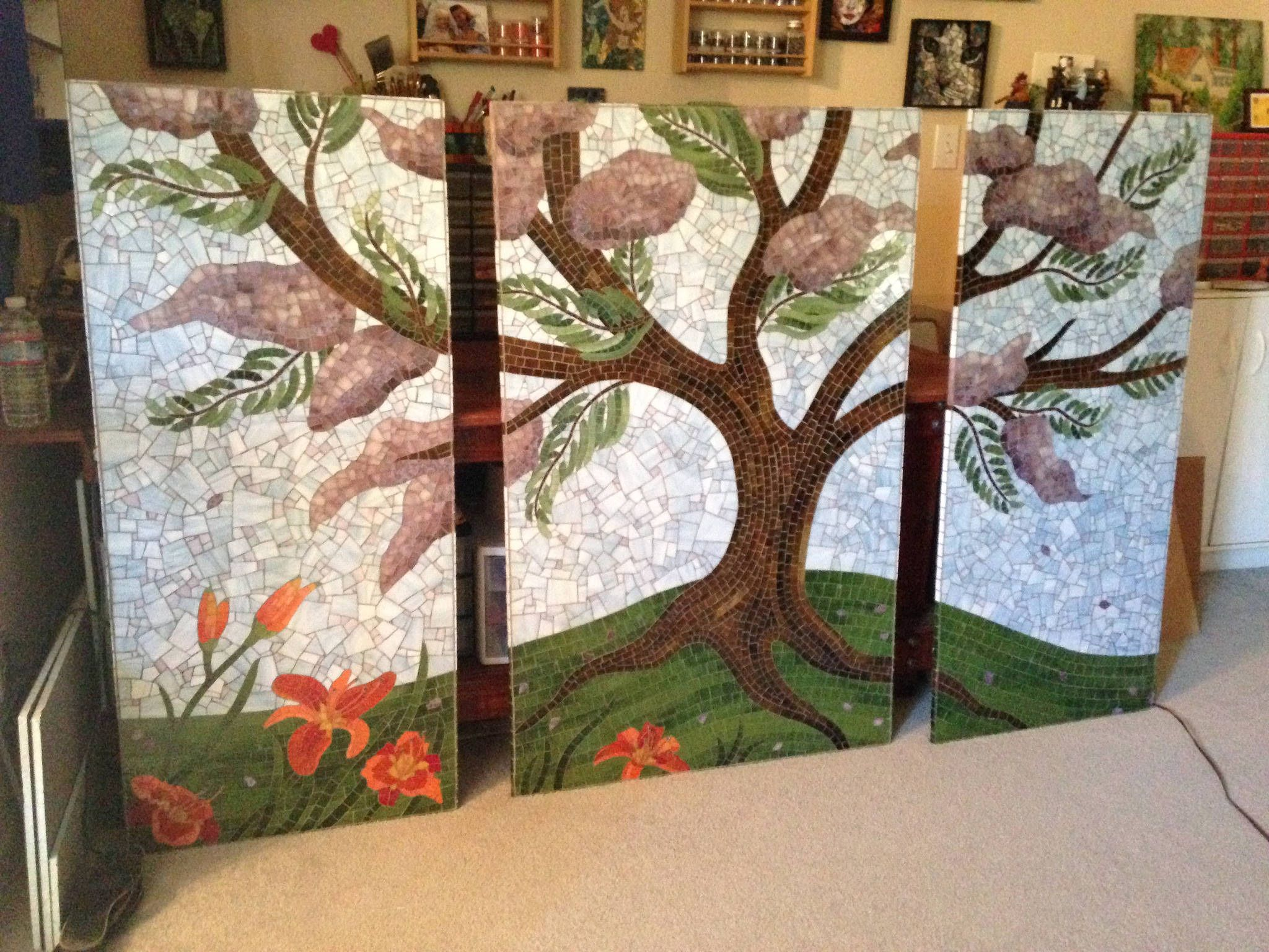 003 mosaic triptych outdoor