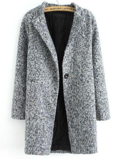 Khaki Lapel Long Sleeve Loose Sweater Coat | clothing | Pinterest ...