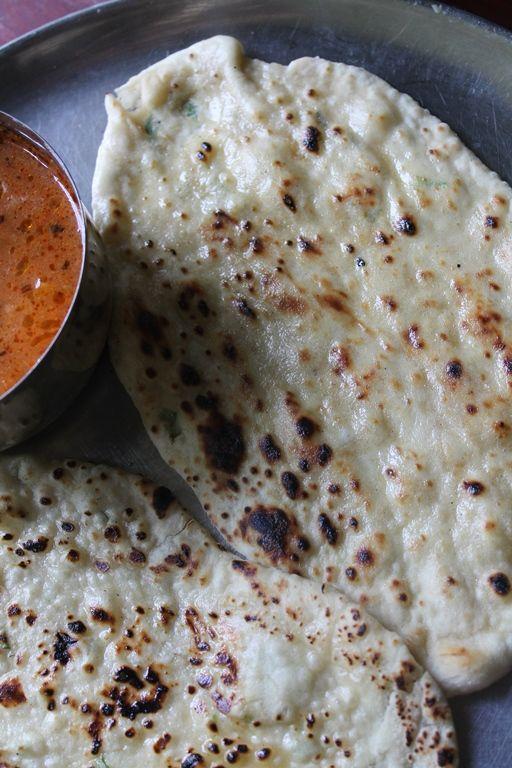 Naan Recipe / Naan Bread / Coriander Naan / How to make Naan without Tandoor, Oven, Egg