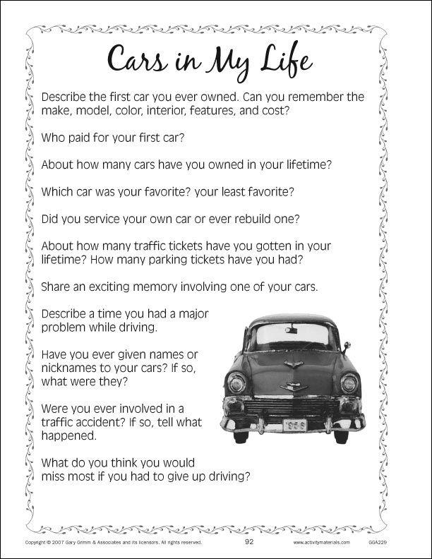 Sample Page 2 Memory Care Activities Nursing Home Activities Dementia Activities