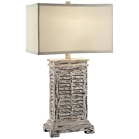 Crestview Collection Antique Shutter Table Lamp 6j295 Lamps Plus Shutter Table Crestview Collection Table Lamp