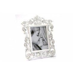 Cadre photo baroque blanche Irèna 10x15 cm