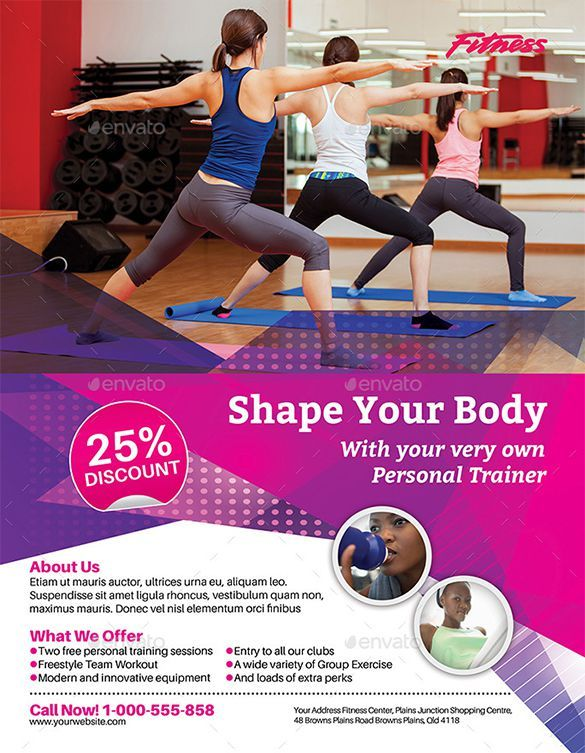 Personal Trainer Fitness Flyer Template Fitness Pinterest