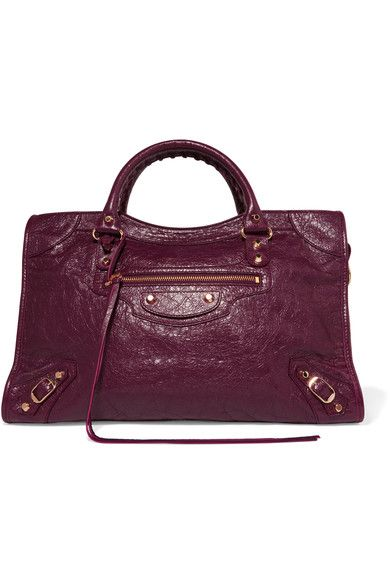 Plum textured-leather (Lamb) Two-way zip fastening along top Designer  color…  001c105f50394