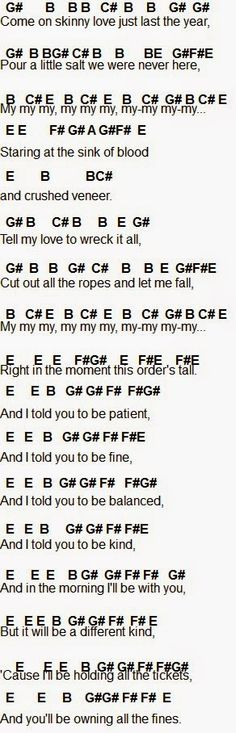 ride somo piano sheet music - Google Search | Music sheets ...