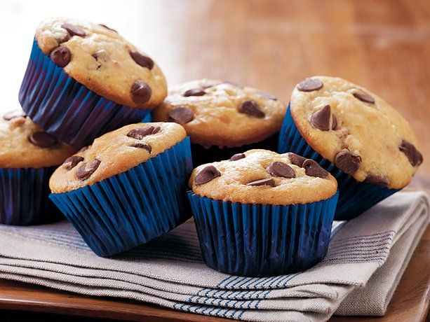 Peanut Butter Chocolate Chip Muffins -Made with Bisquick.