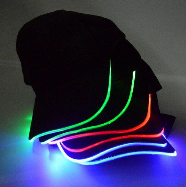 dde6abba24415 Personality LED Light Up Hip hop Cool Baseball Cap Hat