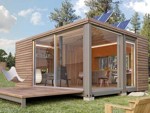 baie vitr e et panneau solaire la maison container passive conteneurs pinterest baies. Black Bedroom Furniture Sets. Home Design Ideas
