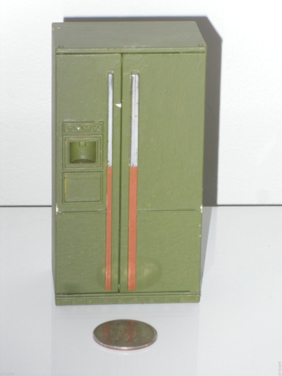 Kitchen cabinets for dollhouse - Vintage Dollhouse Furniture Painted Tomy Plastic Kitchen Cabinets Appliances Ebay