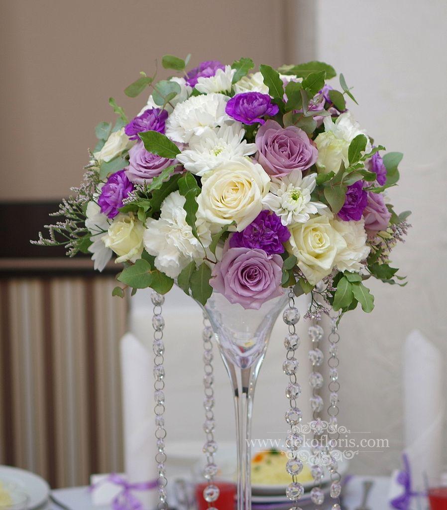 Fioletowa Dekoracja Sali Wesele Nysa Opolskie Flower Centerpieces Wedding Wedding Centerpieces Purple Wedding Flowers