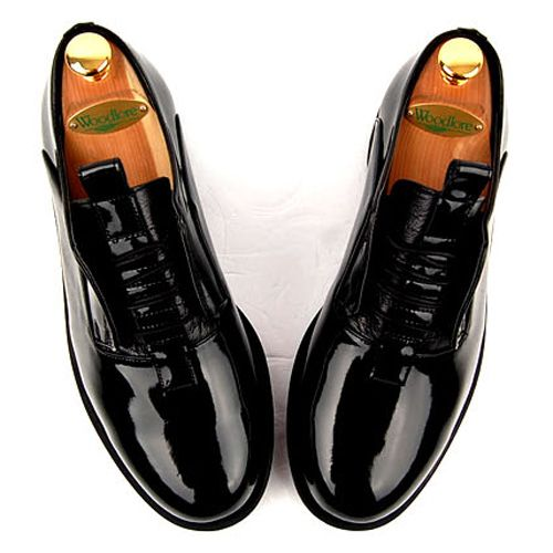 Black Lace Up Leather Shoes