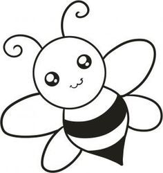 Cute Drawing With Images Easy Animal Drawings Bee Drawing