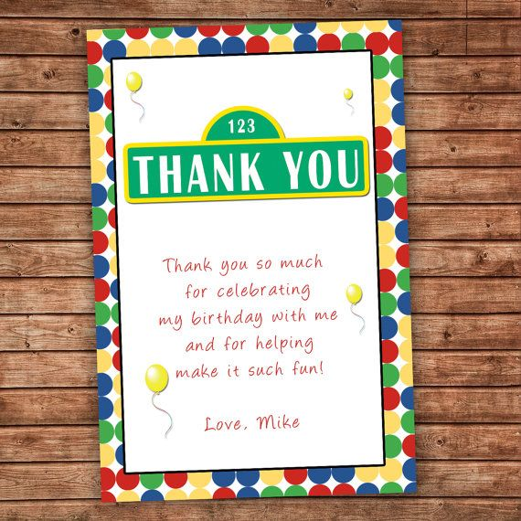 Kids Birthday Thank You Card Boy Birthday Thank You Note With