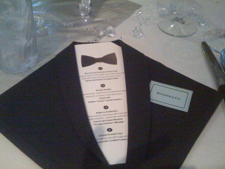Black Tie Napkins And Menus Party Ideas