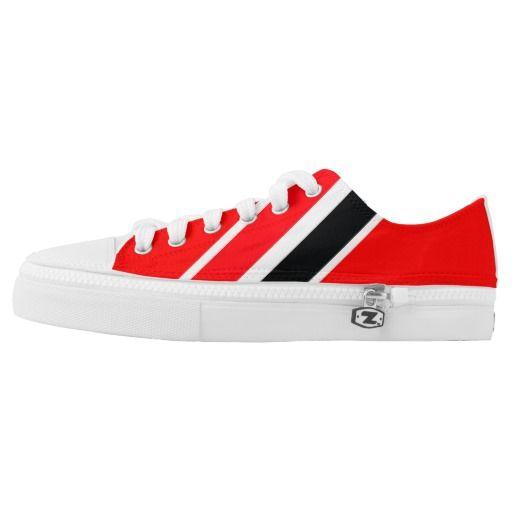 Red, Black & White Low Top Sneakers.  http://www.zazzle.com/trinidotcom?rf=238813648110634412