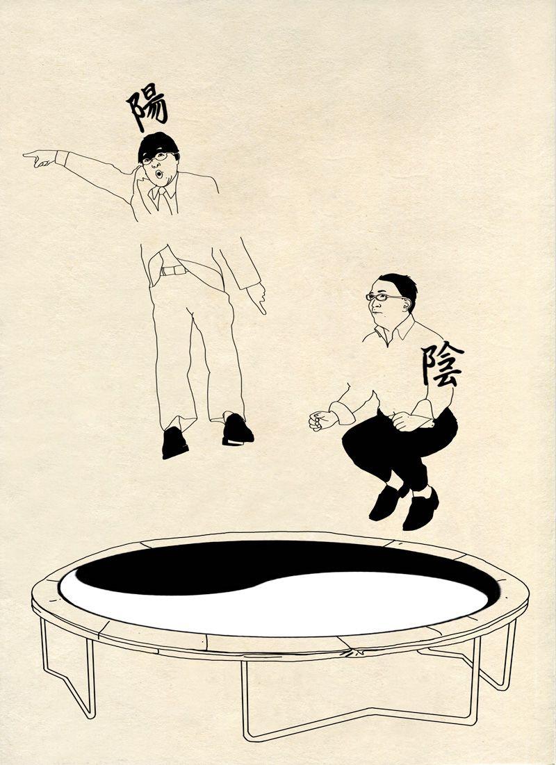 Elodie Dornand de Rouville - TRAVERSÉE - Série de dessin sur papier hanji - Corée Séoul - Illustration / Croquis