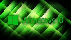1366x768 Windows 10 Wallpaper Our Green Windows 10 Logo Windows 10 Logo Green Windows Windows 10