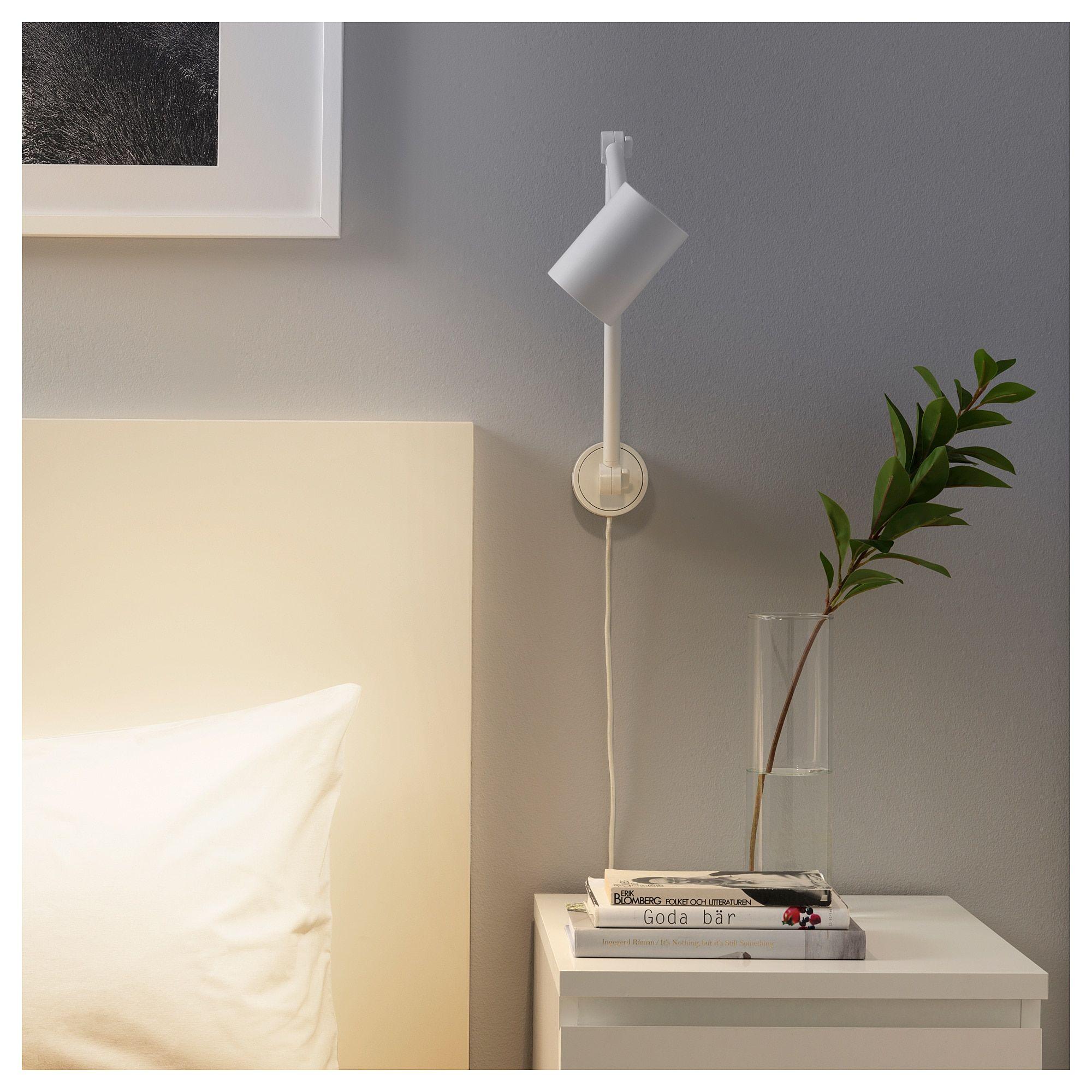 Nymane Lampe De Travail Murale Blanc Ikea Wall Lamp Wall Lamps Bedroom Ikea