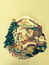 """1996 Fitz and Floyd Cookies for Santa Plate  Canape 11"""""""