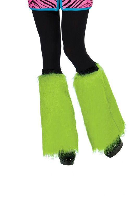 Adult Lime Green Fluffies Leg Warmers $18.11 St. Patrick's Day Accessories. http://www.halloweencostumes4u.com/prods/rub32053.html