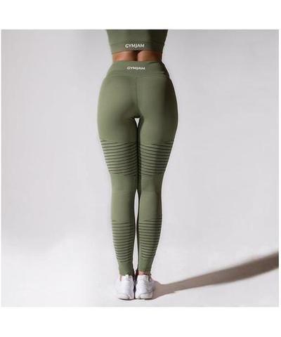 350007a3bcf9f GymJam Aura Mesh High Waisted Leggings Khaki-GymJam-Gym Wear
