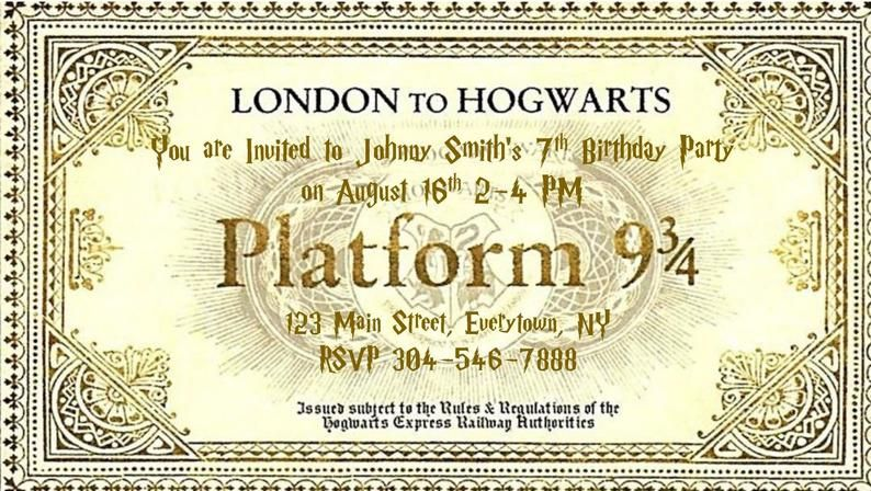 Editable Train Ticket With Envelope For Birthdays Trips Etsy Harry Potter Ticket Hogwarts Express Ticket Hogwarts Express