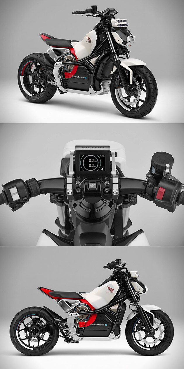 Honda Riding Assist-e Motorcycle Can Balance Itself Will be Unveiled at Tokyo Motor Show