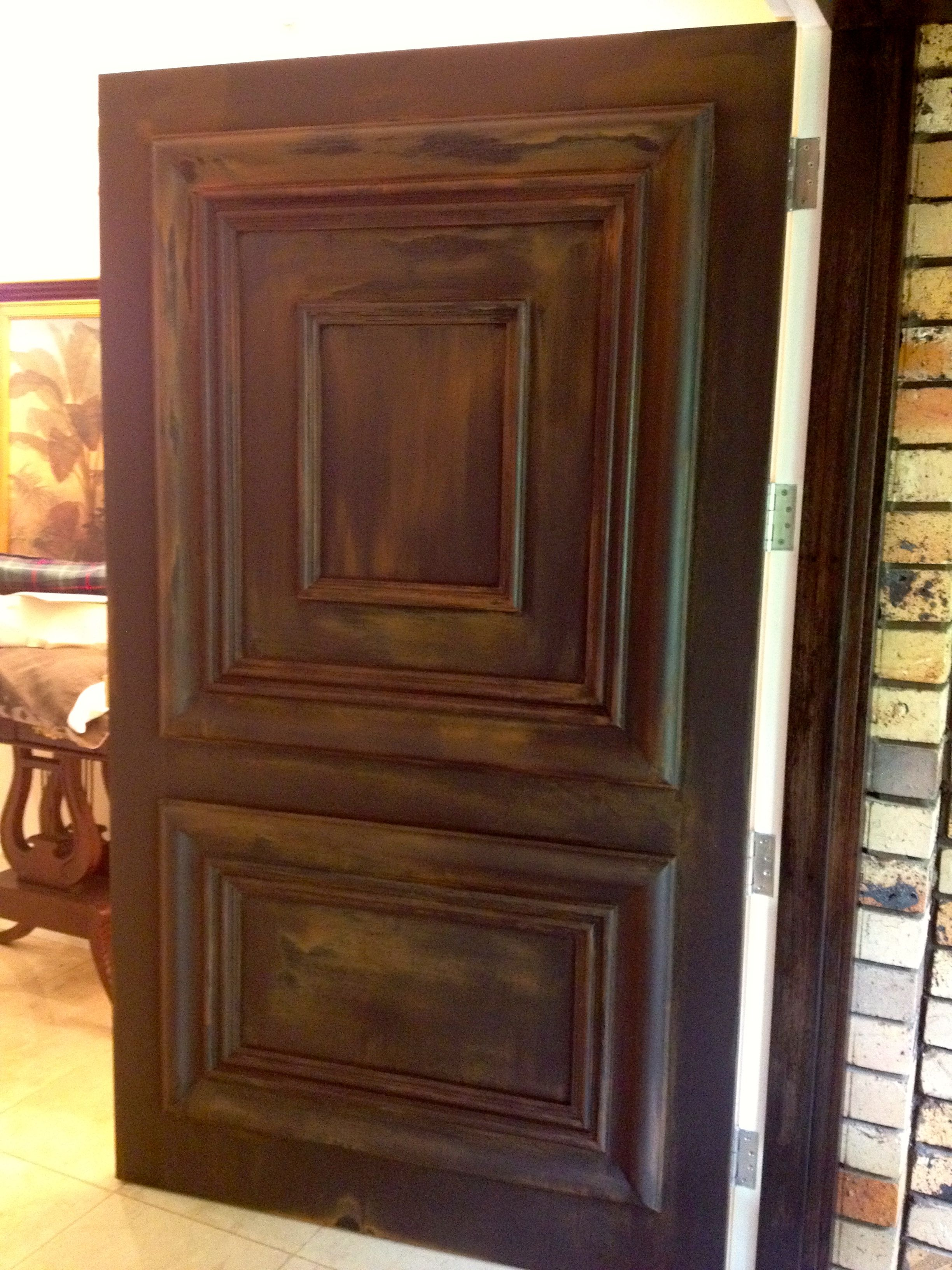 This door is finished in Porters Rust and looks awesome.  Front