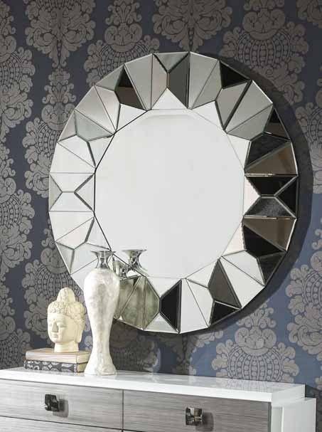 Espejo moderno redondo jasone espejos pinterest for Espejos redondos modernos