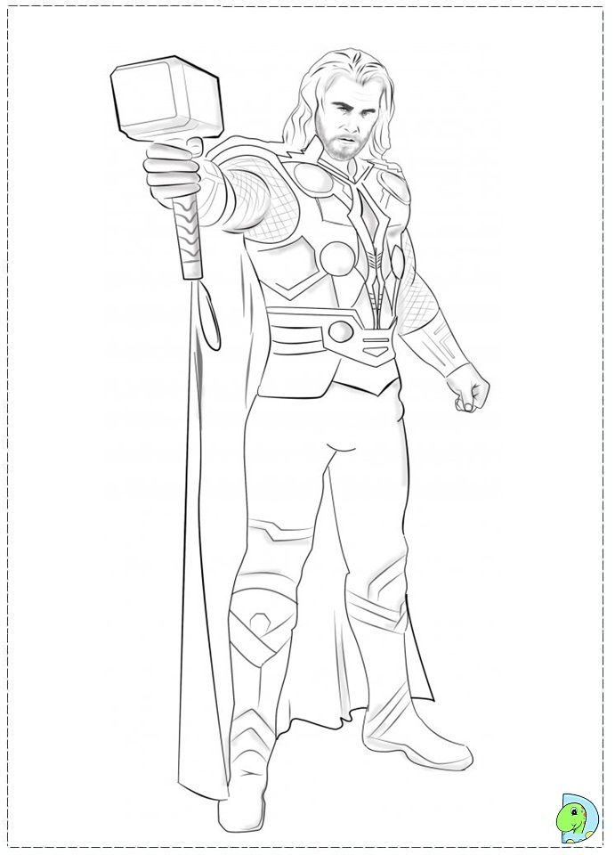 Thor Coloring Page Marvel Coloring Superhero Wallpaper Coloring Books
